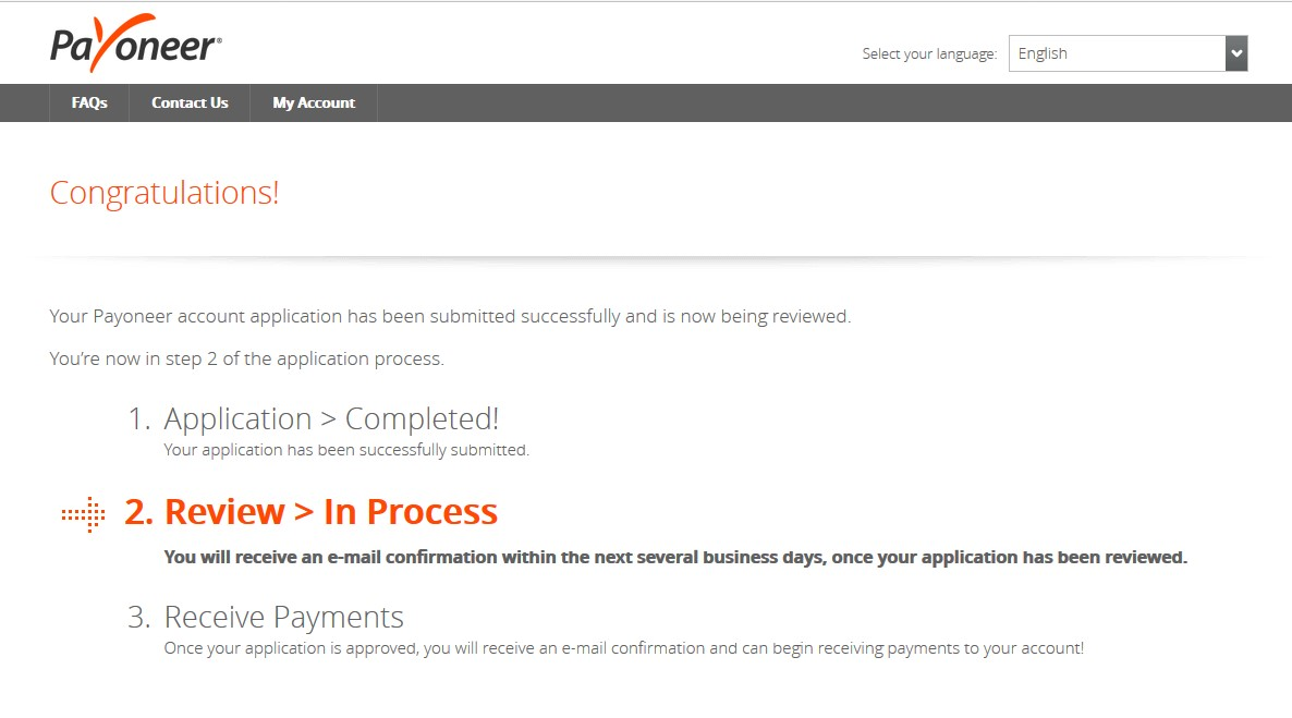 Payoneer Review in Process