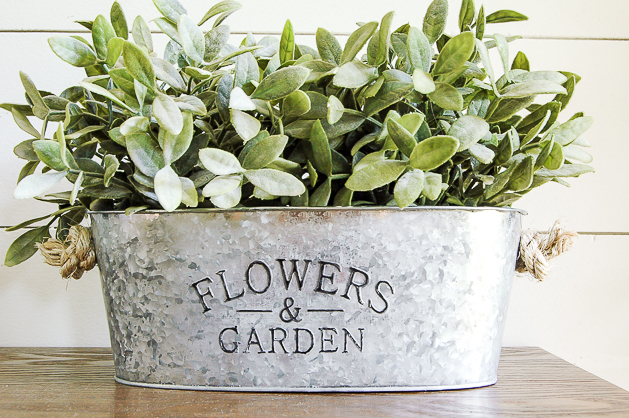 Dollar Tree metal Flowers & Garden planter