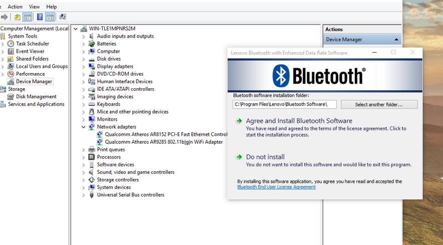Solution Error on installing Dell 365 Bluetooth on Windows 10