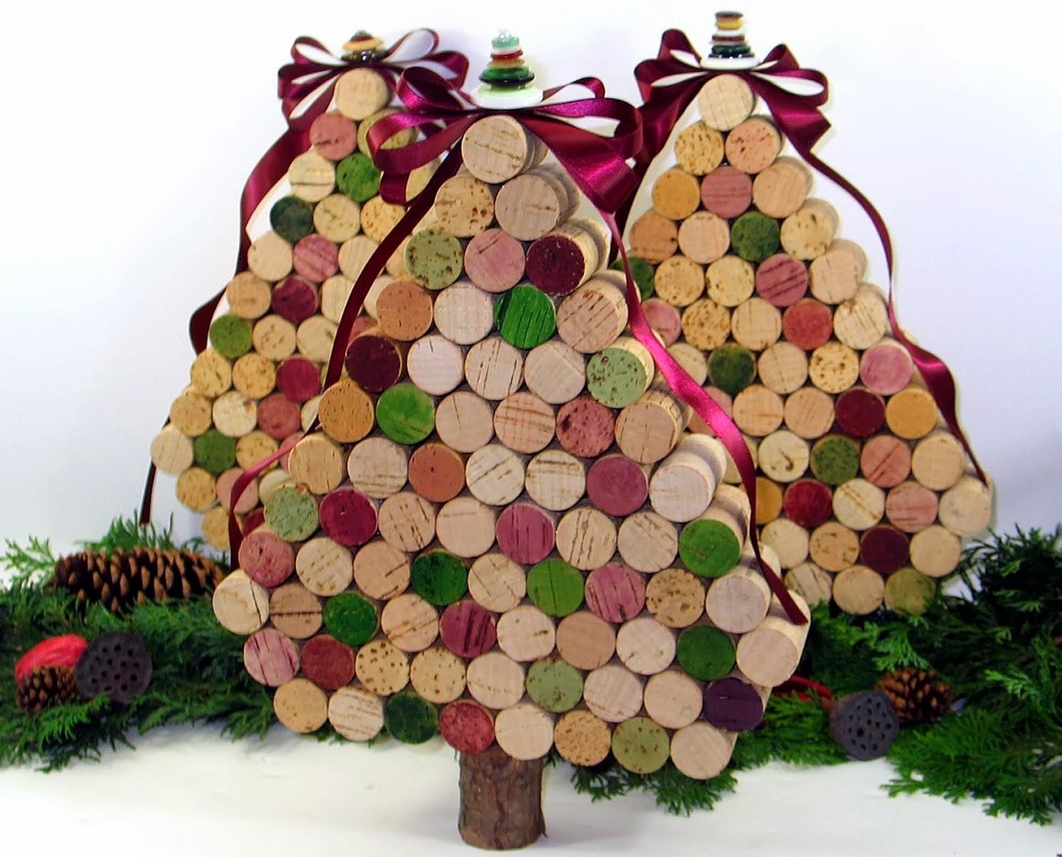 ricco e magnifico pacchetto elegante e robusto vendita a buon mercato nel Regno Unito Addobbi natalizi con tappi di sughero - La CASA Delle IDEE