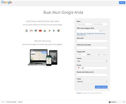 Buat Akun Gmail 1