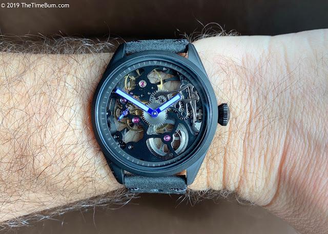 TC-9 Titanium Pilot – Skeleton Edition wrist