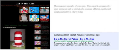 Cat In The Hat Website Spam
