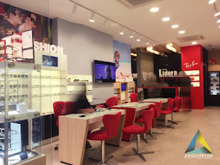 projeto arquitetura loja otica interior