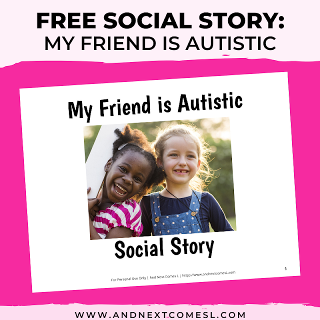 Free printable social story for kids about autism