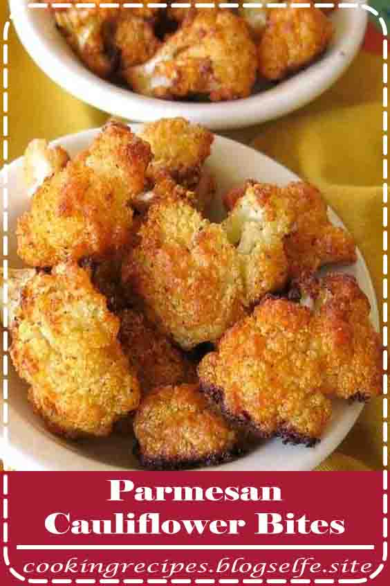 4.8 ★★★★★ | Crispy Parmesan Cauliflower Bites will be the hit of your party or dinner table! They're low-carb, keto-friendly, gluten-free and melt in your mouth delicious! #Thanksgiving Recipes #appetizers #healthy