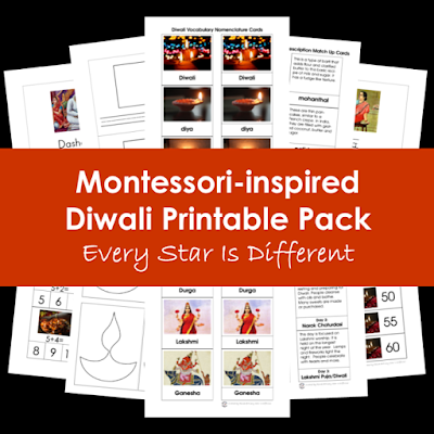 Montessori-inspired Diwali Printable Pack