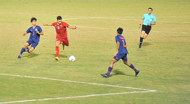 U18 Vietnam vs U18 Thailand in Thong Nhat Stadium Ho Chi Minh City 2019
