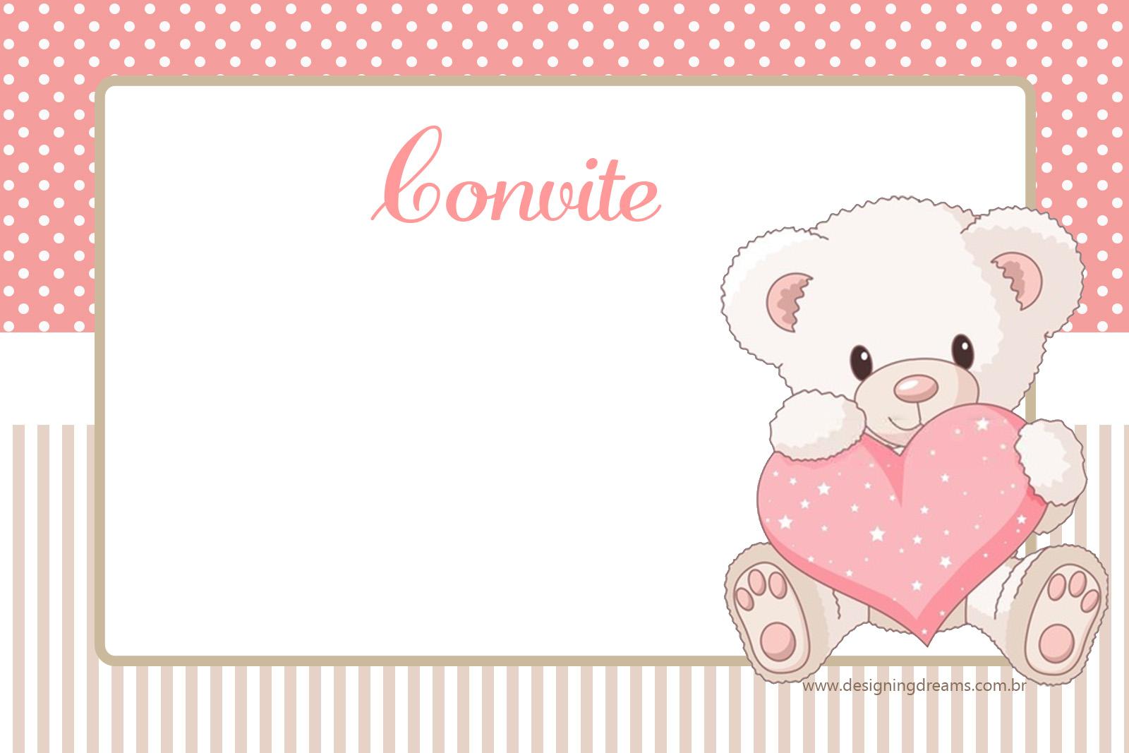 Teddy Bear For Girls Free Printable Mini Kit For Baptism
