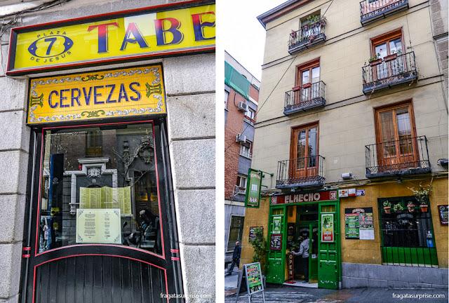 Tabernas no Barrio de las Letras