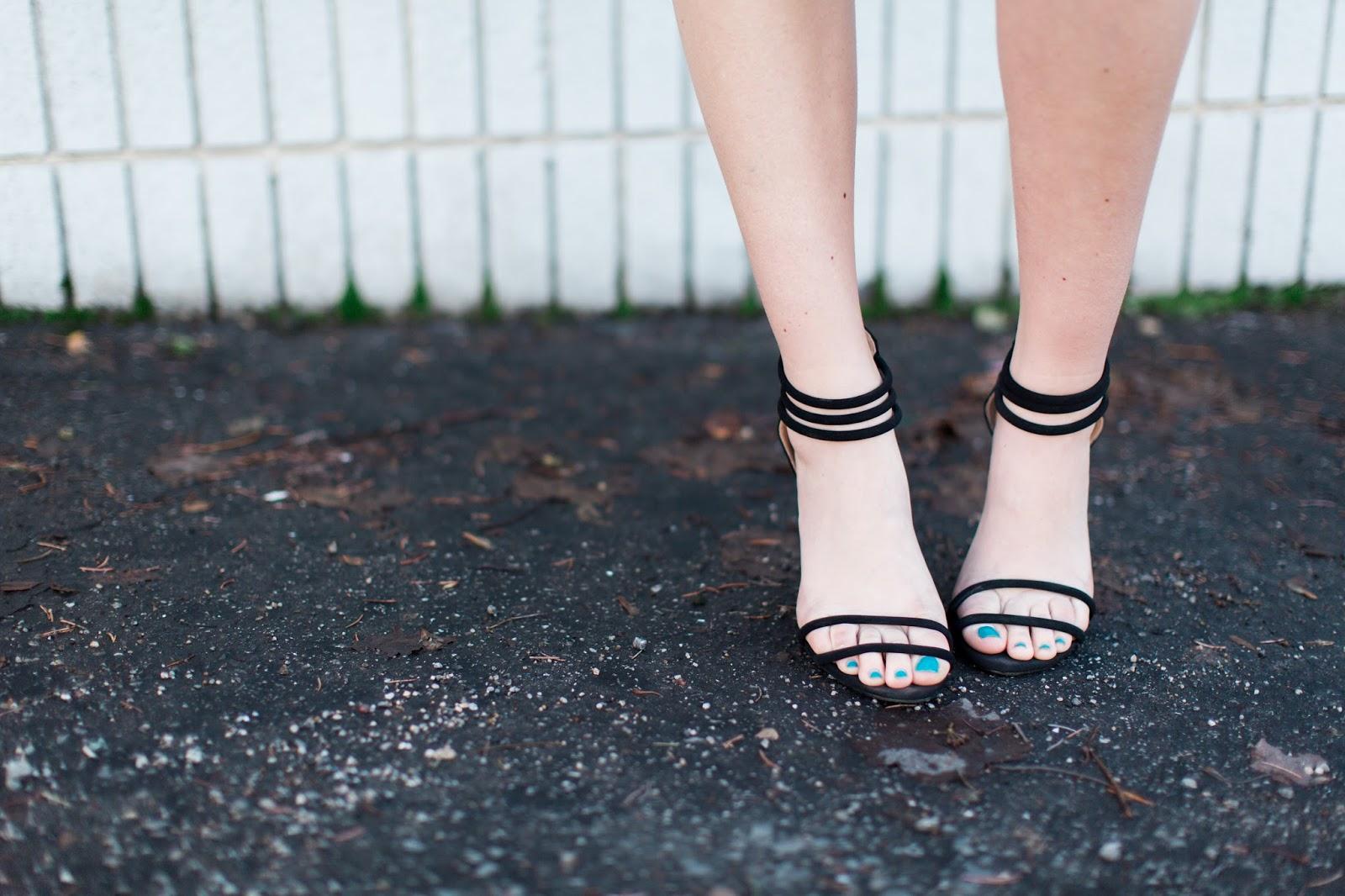 Go Jane, Black Heels, Black Strappy Heels