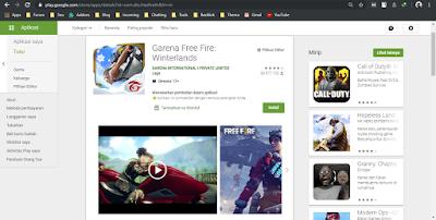 cari free fire di situs play store
