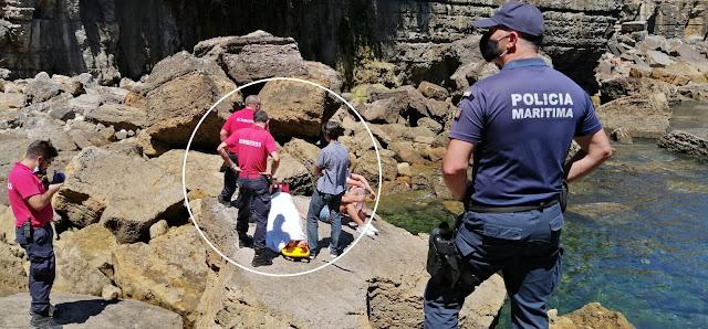 Jovem de 15 anos caiu nas rochas do Farol da Guia e foi resgatada com sucesso pela Estação Salva-Vidas