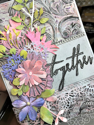Sara Emily Barker https://sarascloset1.blogspot.com/2019/07/togethera-metallic-wedding-card-for.html Tim HOltz 3D Embossed Wedding Card 2