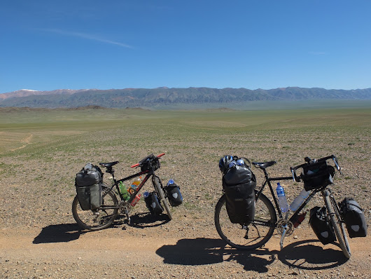 Cycling through Clouds in Central Asia: iPad back; Today: 55 km; Total: 4435 km