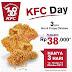 Promo KFC Day 3 Hot And Crispy Chicken Harga Hanya Rp 38.000