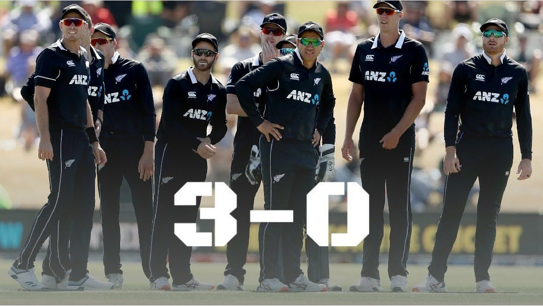 New Zealand Whitewash team India with 3-0