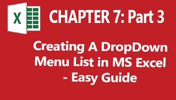 how to create drop down menu in excel online