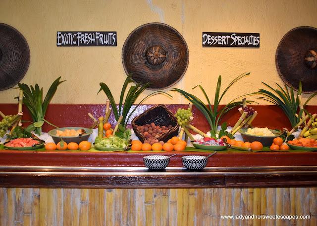 exotic fruits in Bamboo Lagoon Dubai
