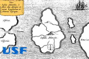 The lost City Of Atlantis map.