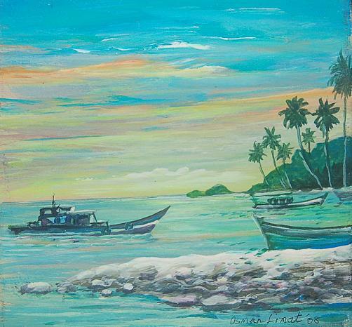 Lukisan Pemandangan Alam Minangkabau