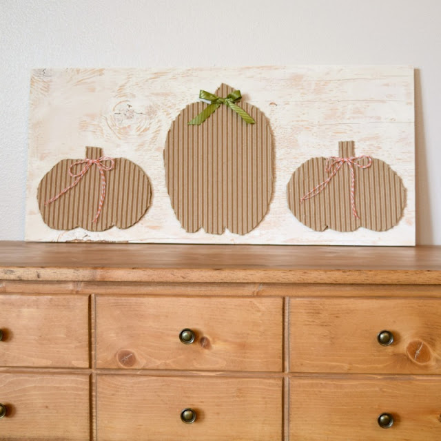 cardboard pumpkin decor