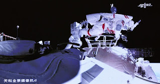 astronaut china, spacewalk, pertama, tianhe, stasiun ruang angkasa, antariksa
