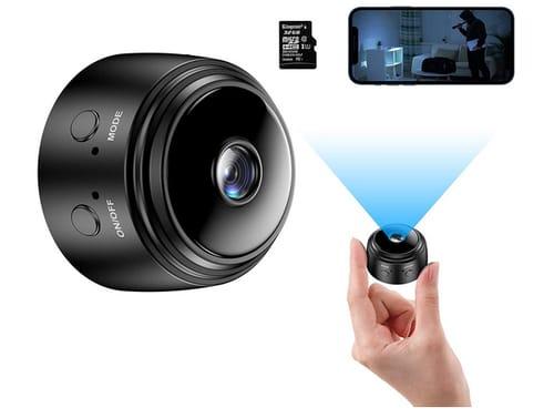 MOCMYKON WiFi Small FHD Security Surveillance Camera