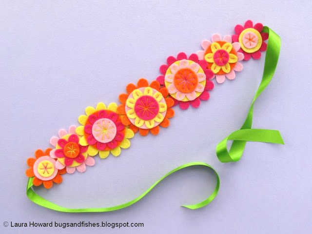 Felt Flower Crown Sewing Tutorial