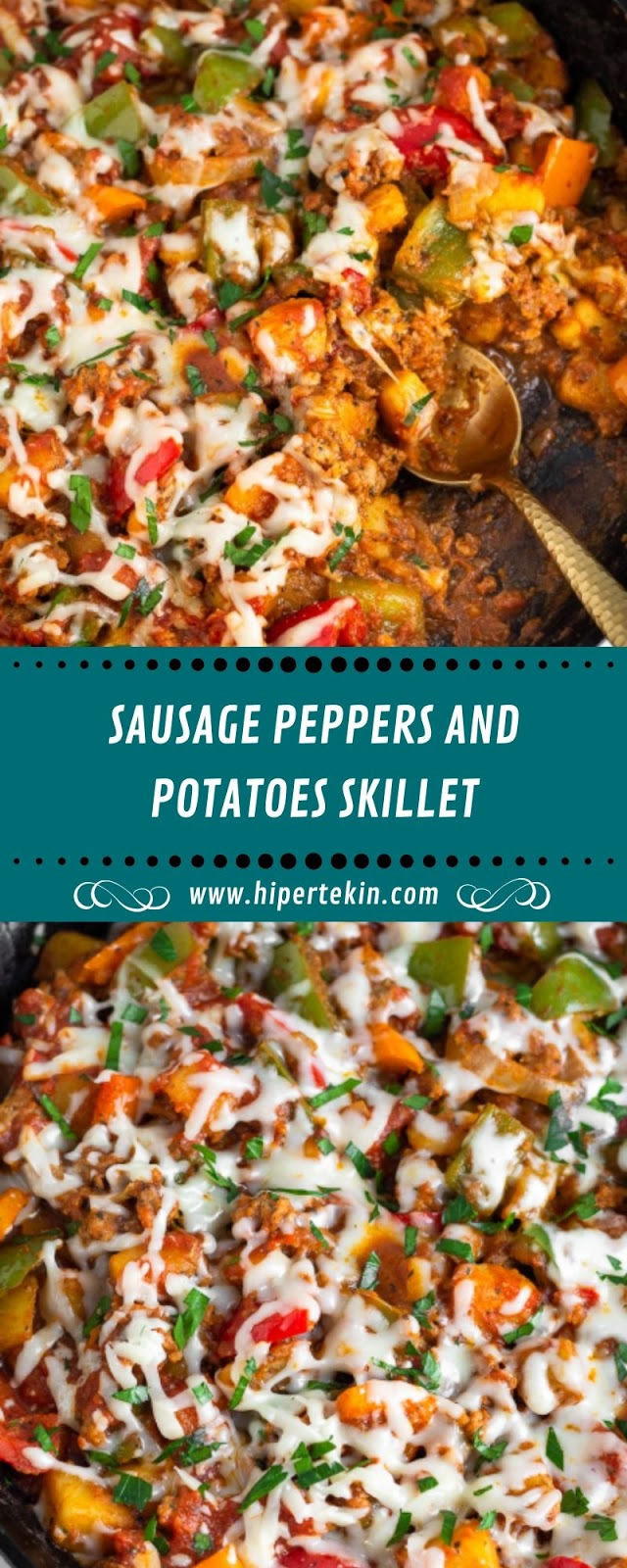 SAUSAGE PEPPERS AND POTATOES SKILLET