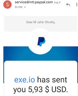 Pembayaran Exe.io