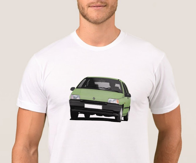 Zazzle Renault Clio cornering t-shirt