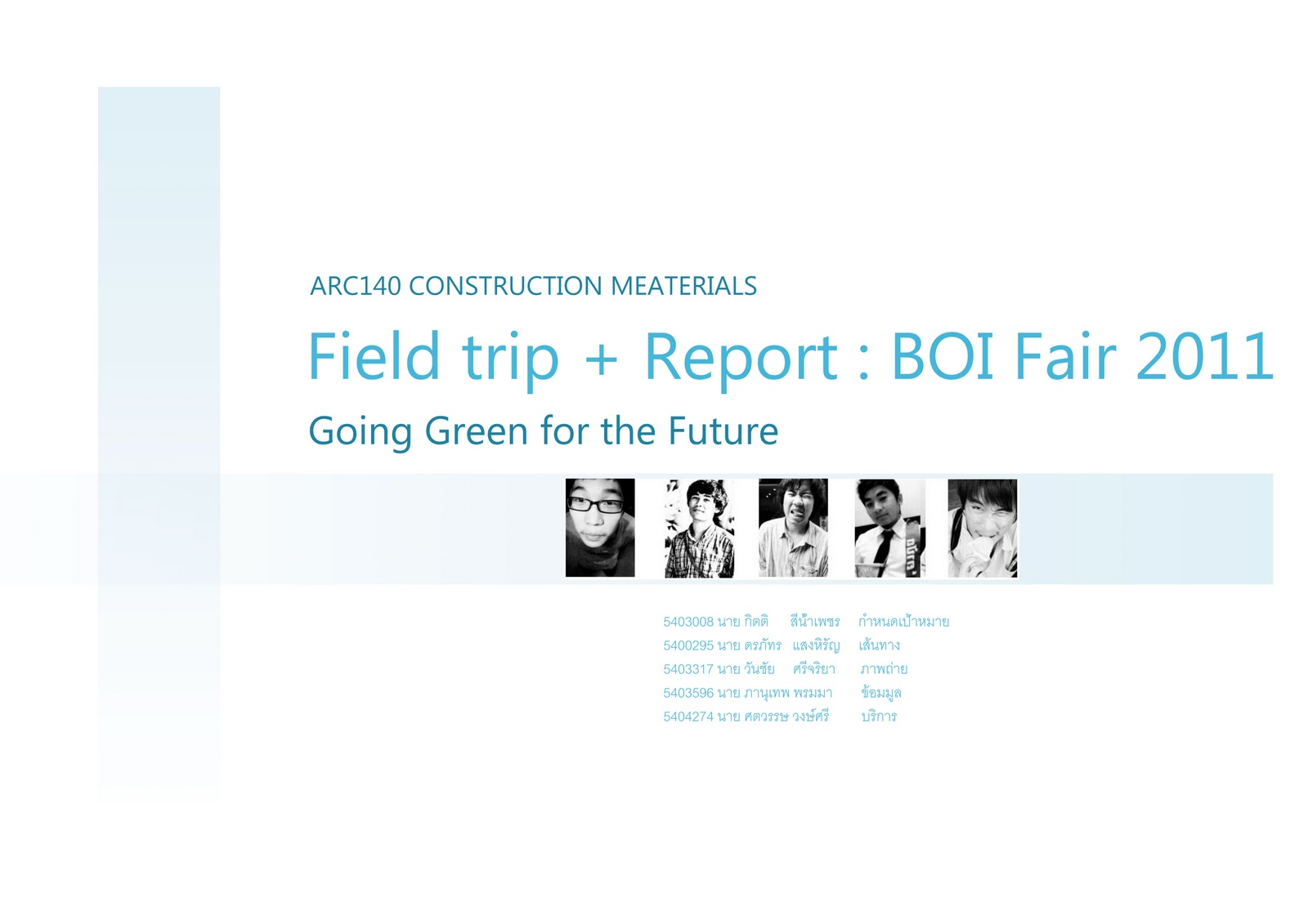 Field Trip Report Boi Fair