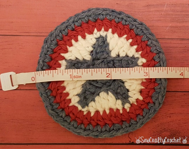 patriotic crochet star coasters pattern