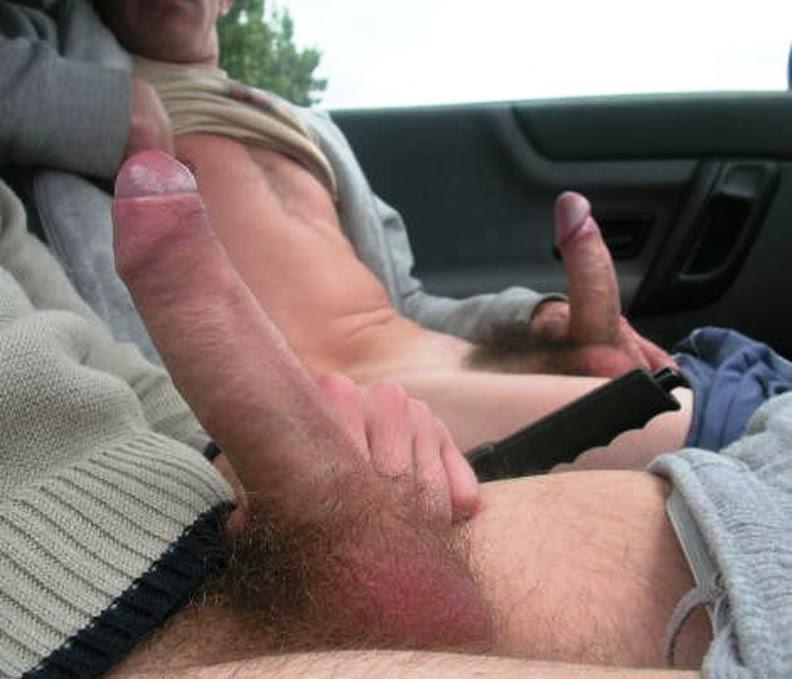 Man jerking off in car