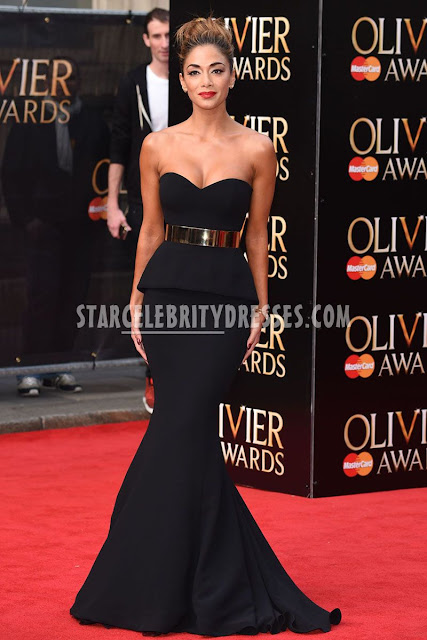 http://www.starcelebritydresses.com/nicole-scherzinger-black-strapless-celebrity-prom-gown-gold-belt-at-2015-olivier-awards-296.html