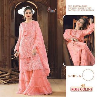 Shree fab Rose Gold vol 5 pakistani Suits catalog