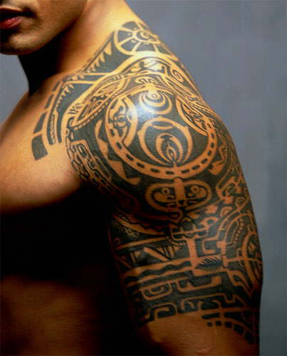 Tribal Arm And Shoulder Tattooeveryting Under One Roof
