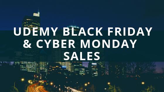 Udemy Black Friday & Cyber Monday 2018 Sales