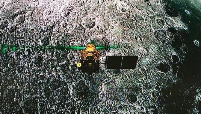 Still, India Moon Lander and, without a trace: NASA