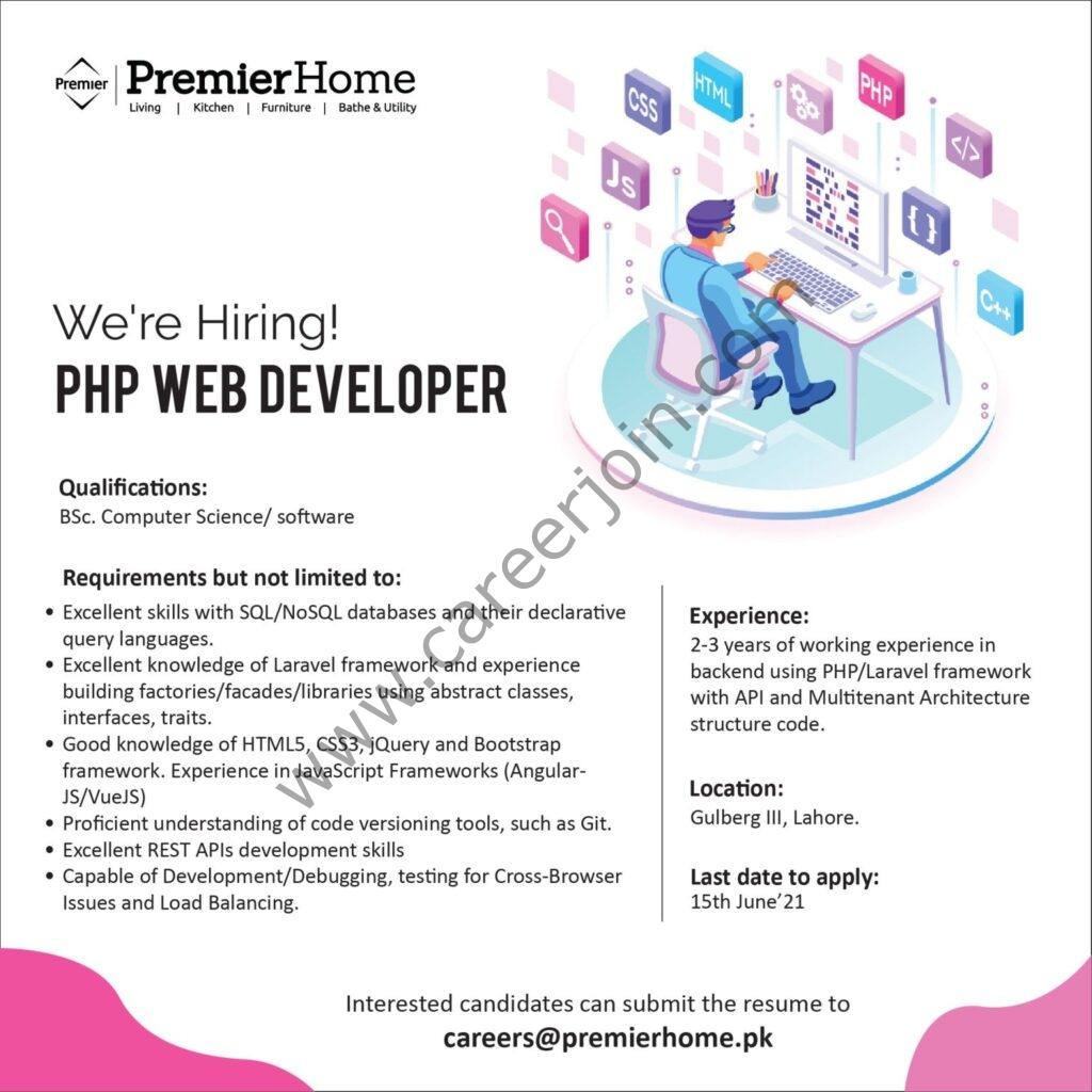 Premier Home Jobs 2021 in Pakistan