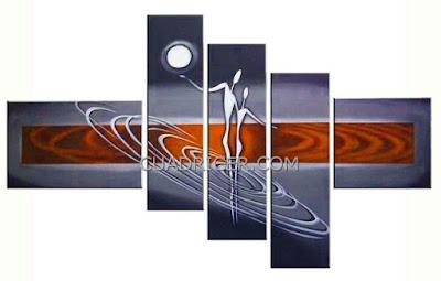 http://www.cuadricer.com/cuadros-pintados-a-mano-por-temas/cuadros-etnicos-africanos/cuadros-figuras-luna-naranja-moderno-dormitorios-salones-1648.html