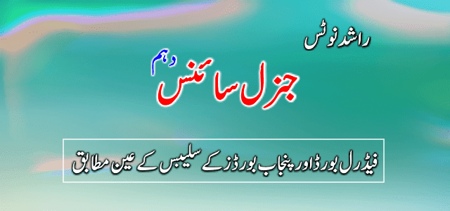 10th Class General Science all Chapters PDF Download