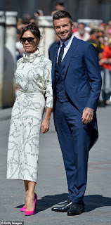 Victoria and David Beckham attended Sergio Ramos