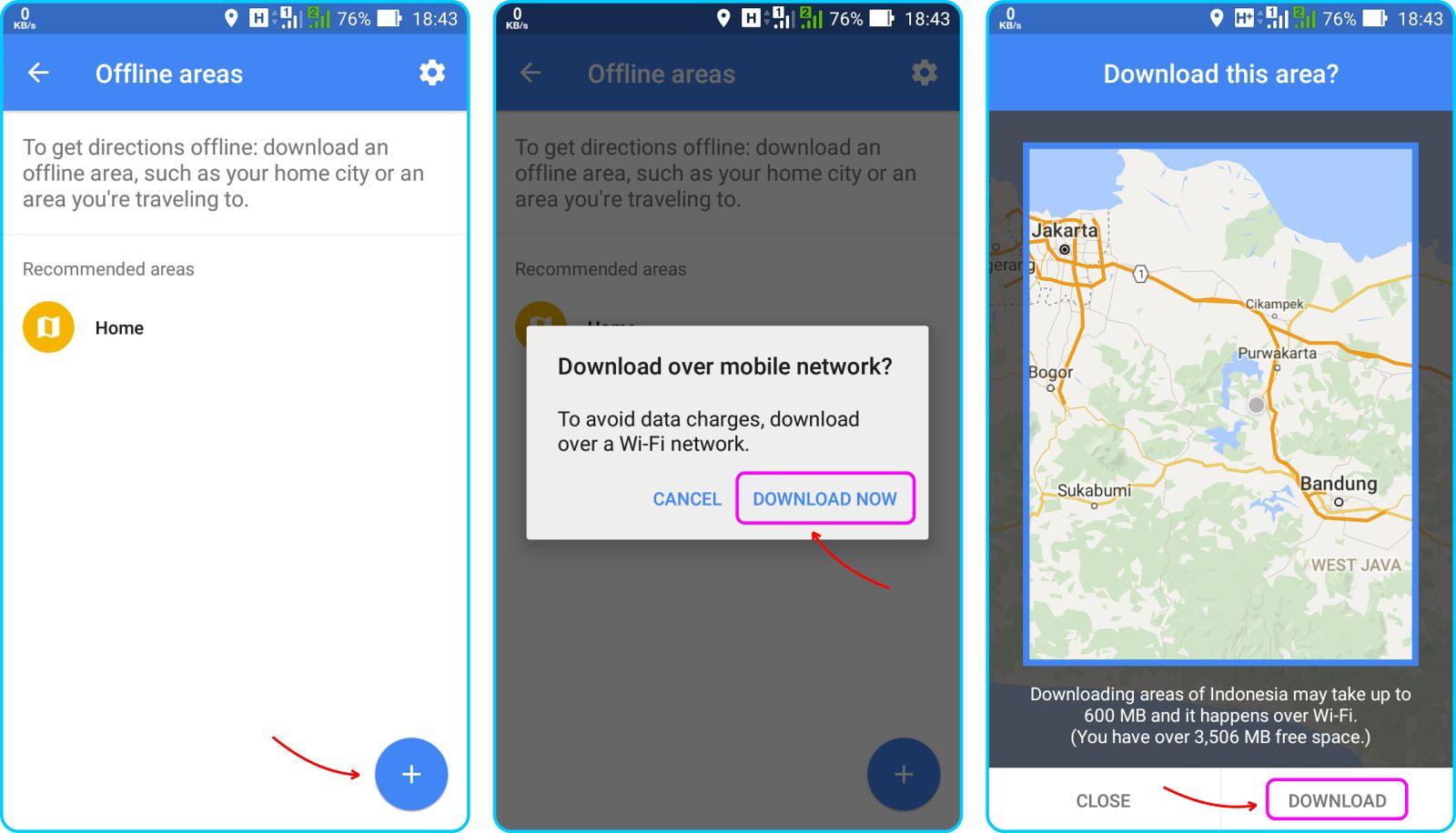 Download Offline Maps - Pilih Area Maps Untuk di Download