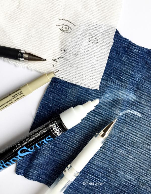 tracer un dessin sur du tissu