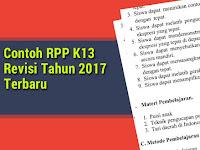 Inilah Contoh RPP K13 Versi Revisi Tahun 2017 Terbaru