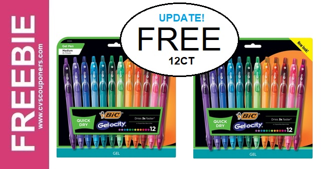 FREE BIC Gel Pens at CVS 7-19-7-25