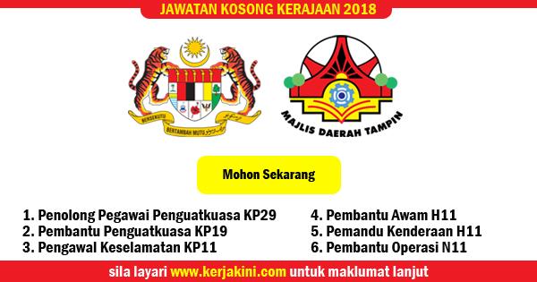 jawatan kosong 2018 majlis daerah tampin