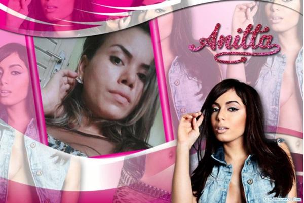 Criar moldura da cantora brasileira Anitta